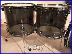 TAMA Starclassic Mirage Black Ice Acrylic Drumset Black Nickel Hardware