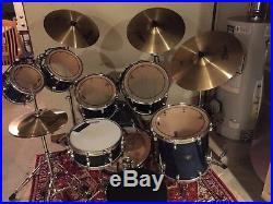 Tama Starclassic 7 piece drum set with Zildjian cymbals, hardware and throne