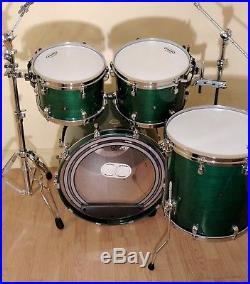 Tama Starclassic Maple 4pc Drum Set. British Racing Green Lacquer