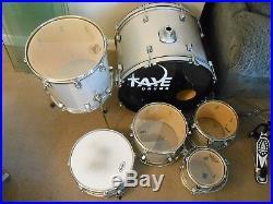 Taye Rock Pro series 6 piece drum set silver sparkle throw-back