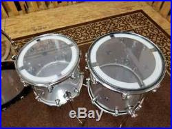 Used DW Design Series 6-Piece Clear Acrylic Drum Set
