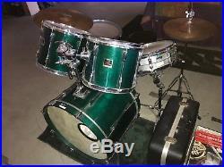 Used Emerald Colored Birch Yamaha Stage Custom Drum Set