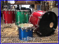 Used Ludwig Classic Maple 4pc Drum Set Jellybean Sparkle