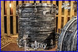 Used Ludwig Keystone X Drum Set, Vintage Black Oyster