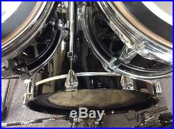 Used Premier Signia 4-Piece Rack Mount Drum Set with Hardware No Snare Drum