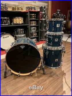 Used Sonor Designer Birch 4pc Drum Set Birdseye Azure