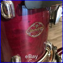 Used Tama Starclassic Maple 5pc Drum Set Purple Lacquer