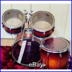 Used! YAMAHA YD-9000RC Floor Tom x2 Bass Drum Set Made in Japan