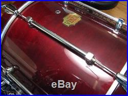 VERY VERY RARE Premier SIGNIA Jazz compact 5 pce Cherry Lacquer shell set