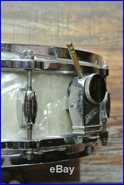 VINTAGE GRETSCH MAX ROACH Progessive Jazz 4X14 WMP SNARE DRUM for YOUR SET! Z904