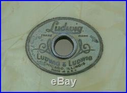 VINTAGE Ludwig & Ludwig WHITE MARINE PEARL SNARE DRUM SHELL for YOUR SET! #E363