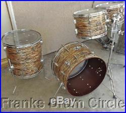 Vintage 1960's Pearl President Phenolic Fiberglass Shells 4pc Drum Set 60's