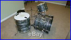 Vintage 1967 Ludwig Black Oyster Pearl Ringo drum set