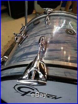 Vintage 60's Gretsch Midnight Blue Pearl Drum Set