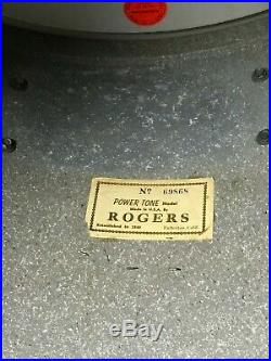 Vintage 60's Rogers Drum Set White Marine Pearl