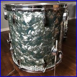 Vintage 60s Pearl President Sky Blue Pearl Drum Set 13 16 22 Japan Phenolic
