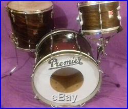 Vintage 60s Premier 20/12/16 Mahogany Duroplastic Ringo finish Player Set gc/ok