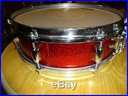 Vintage Gretsch Drums Set Progressive Jazz Model Snare Drum 14 X 4 Round Badge