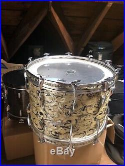 Vintage Lido Supreme drum set rare finish Sonor types hardware cool one off set