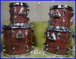Vintage Ludwig Blue & Olive Badge Drum Kit Large Ludwig Drum set Vintage Ludwig