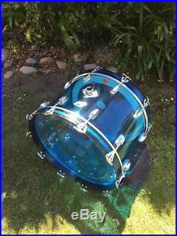 Vintage Ludwig Blue Vistalite drum set
