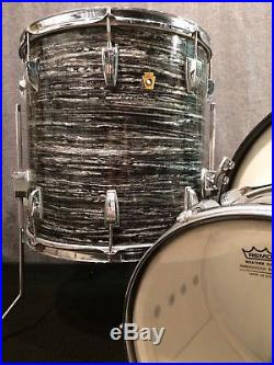 Vintage Ludwig Drum Set Black Oyster Pearl Made in USA