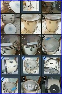 Vintage Ludwig Drumset white ready to rock
