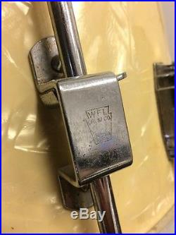 Vintage Ludwig Amp Ludwig Oval Badge Drum Set White Marine