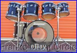 Vintage Ludwig Rocker 6-Piece Drum Set Modular Hardware Maple Wood Shells