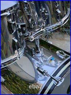 Vintage Ludwig Stainless Steel Drum Set 1970s