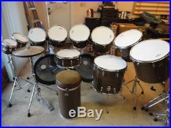 Vintage Ludwig Super Classic Octa-Plus Drum Set Walnut Cortex Wrap
