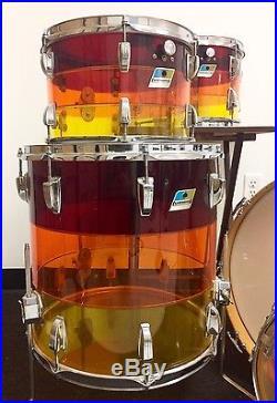 vintage ludwig vistalite drum set tequila sunrise made in usa used drum sets. Black Bedroom Furniture Sets. Home Design Ideas
