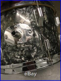 Vintage Rogers Drum Set Black Diamond Pearl Dayton Nice