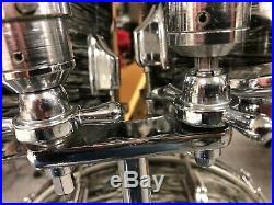 Vintage Rogers Londoner Drum Set 12,13,16,18,22 1974 Black Strata Pearl Nice