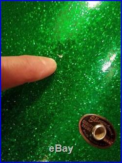 Vintage Slingerland 14n Duet Green Sparkle Drum Set