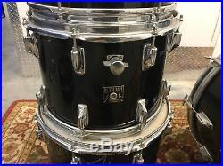 Vintage Tama Imperial Star Black 4pc Drum Set 24 Imperialstar