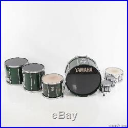 Vintage Yamaha 9000 6 Piece Green Drum Set with Cases & Extras Russ Kunkel #24723