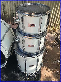 Vintage Yamaha Recording Custom Birch 5pc Double Bass Drum Set kit
