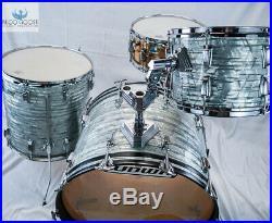 Workhorse! Vintage 1980 Ludwig Classic Drum Set In Sky Blue Pearl