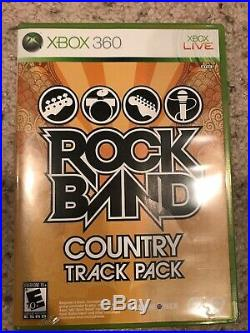 Xbox 360 Rock Band Full Bundle Drum Set Fender Guitar Bass Mic Games