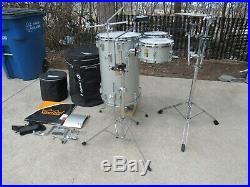 YAMAHA CLUB JORDAN cocktail drum set kit silver sparkle gig bags complete stands
