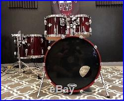 Yamaha Beech Custom Cherry Wood Lacquer 5pc Drum Set