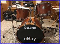 Yamaha Birch Custom Absolute Drum Set 20/12/14 Vintage Natural Made in Japan