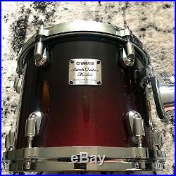 Yamaha Birch Custom Absolute Drum Set Black Cherry Fade 10 12 15 20 Japan BCA