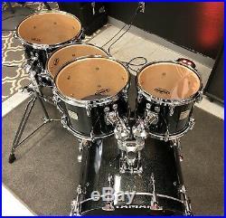Yamaha Maple Custom Absolute Black Sparkle 5pc Drum Set