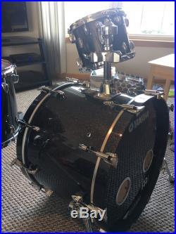 Yamaha Maple Custom Absolute Drum Set! Black Sparkle