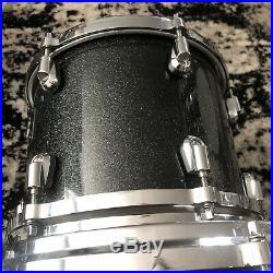 Yamaha Maple Custom Absolute Drum Set Black Sparkle 10 12 14 16 22 Japan