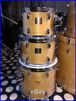 Yamaha Maple Custom Absolute Drum Set JAPAN 6 Drums Amazing