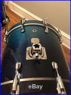 Yamaha Maple Custom Absolute Sea Blue Fade Drum Set 20 10 12 14FT