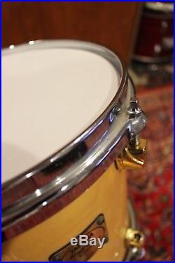 Yamaha Maple Custom Drum Set 20/10/12/14 Drums Natural Finish